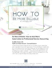 Cover - How to Be More Billable - A Whitepaper by Mike Rizkal - Cornwell Jackson.jpg