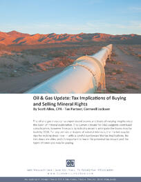 Cover - Oil Gas Update - Tax Implications of Buying and Selling Mineral Rights.jpg